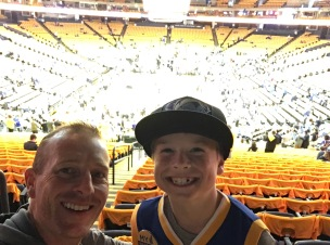 Aunt Suzy took the boys to a Warriors playoff game